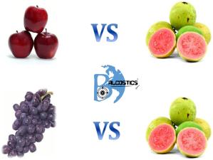 Guava vs Apples & Grapes