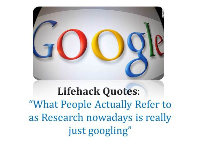 Googling is not research