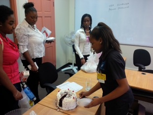Surprise cake for our team members celebrating birthdays in the first week of October.